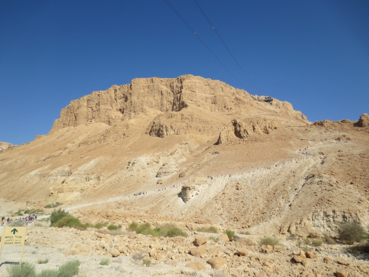 About to Climb the Snake Path at Masada