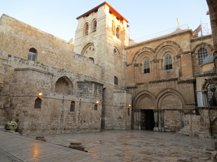 John Hilber and I went to the Church of the Holy Sepulchre at 5:30 in the morning and had the place to ourselves fo