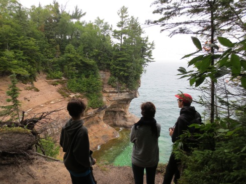 Kids at Pictured Rocks